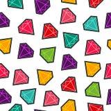 Modell för lapp för diamantstenhäftklammer i roliga färger Fotografering för Bildbyråer