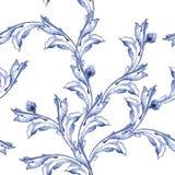 Modell för textur för vektorvattenfärgblått Royaltyfri Bild