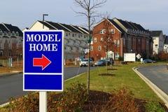 Modell Home Sign Royaltyfria Bilder