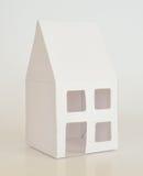 Modell Home White Paper Arkivbild