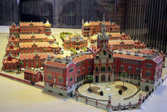 Modell Hospital de Sant Pau stockfotografie