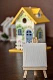 Modell House för marknadsföringshjälpmedel Arkivfoton