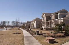 Modell House Neighborhood Arkivbild
