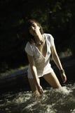 Modell i floden Arkivbilder