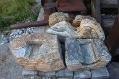 Modell i sten Arkivbilder