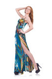 Modell i trevlig klänning Royaltyfria Foton