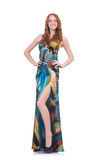Modell im hübschen Kleid lizenzfreies stockfoto