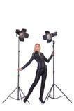 Modell im Studio Lizenzfreie Stockfotos