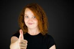 Modell isolerade tummar för positiv inställning upp Fotografering för Bildbyråer