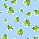 modell liten limefrukt och olika format för sidor på blå bakgrund Fotografering för Bildbyråer