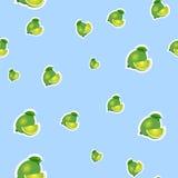 modell liten limefrukt och olika format för sidor på blå bakgrund Royaltyfria Foton