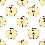 Modell med äpplen Arkivfoto