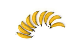 Modell med bananer Arkivbilder