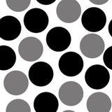 Modell med cirklar, prickig bakgrund Sömlöst upprepa vektor illustrationer