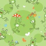 Modell med grodor stock illustrationer