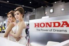 Modell med Honda Arkivfoto