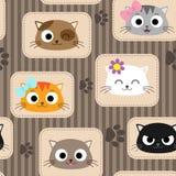 Modell med katter royaltyfri illustrationer