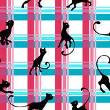Modell med kattungen stock illustrationer