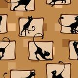 Modell med kattungen Fotografering för Bildbyråer