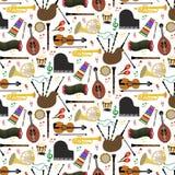 Modell med musikinstrument royaltyfri illustrationer