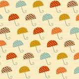 Modell med paraplyer Royaltyfri Fotografi