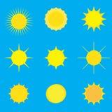 Modell med solen vektor illustrationer