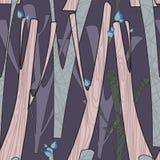 Modell med träd Royaltyfri Illustrationer
