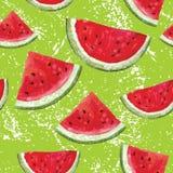 Modell med vattenmelon Fotografering för Bildbyråer