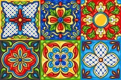 Modell mexikantalavera för keramisk tegelplatta royaltyfri illustrationer