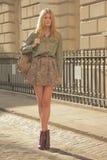 Modell på den London modeveckan Arkivbilder