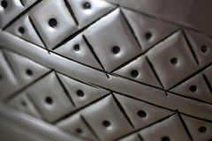Modell på metallyttersida Fotografering för Bildbyråer