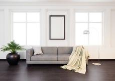 Modell-Plakat in der Innen-Illustration 3D eines klassischen Designs Stockfotografie