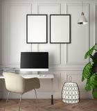 Modell-Plakat im Innenraum, Illustration 3D eines modernen Designs Lizenzfreies Stockfoto