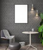 Modell-Plakat im Innenraum, Illustration 3D eines modernen Designs Lizenzfreies Stockbild