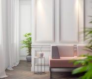 Modell-Plakat im Innenraum, Illustration 3D eines modernen Designs Lizenzfreie Stockbilder