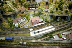 Modell Railway Set Arkivfoto