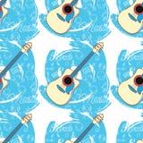 Modell sömlös Guitar-05 Royaltyfri Fotografi