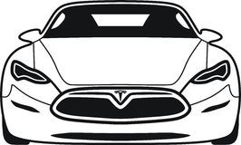 Modell s Tesla stock illustrationer