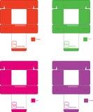 Modell Set1 för färgask arkivbild