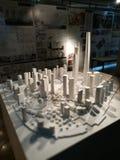 Modell Shanghai Pudongs Lujiazui lizenzfreie stockbilder