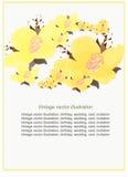 Modell som är blom- med jasmin som ska cards också vektor för coreldrawillustration Royaltyfri Fotografi