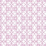 Modell som är sömlös av linjer av blom- krullning vektor illustrationer