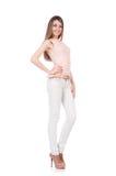 Modell som bär trendiga kläder Royaltyfri Bild