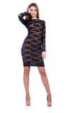 Modell som bär trendiga kläder Royaltyfria Bilder