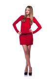 Modell som bär trendiga kläder Arkivfoto