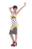 Modell som bär trendiga kläder Royaltyfri Fotografi