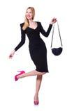Modell som bär trendiga kläder Arkivbild