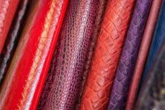Modell som göras av äktt läder royaltyfria bilder