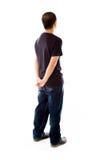 Modell som isoleras på tillbaka se för vanlig bakgrund Royaltyfri Fotografi