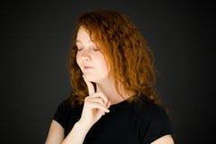 Modell som isoleras på vanligt tänka för bakgrund Royaltyfri Foto